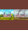 ecology concept environmental pollution vector image