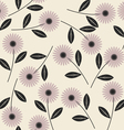 Elegant seamless pattern with stylish flowers 1 vector image vector image