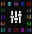 Equalizer icon sign Lots of colorful symbols for vector image vector image