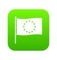 european flag icon green vector image