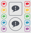 Exclamation mark sign icon Attention speech bubble vector image vector image