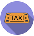 Flat design taxi icon with long shadow isolated vector image vector image