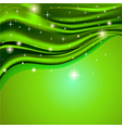 green background fabric satin with the stars vector image vector image