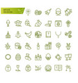 happy easter thin line icons set modern vector image vector image