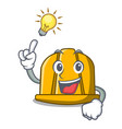 have an idea construction helmet mascot cartoon vector image