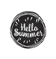 hello summer lemon vector image vector image