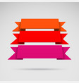 infographic 3d colorful ribbons vector image