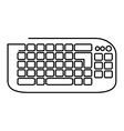 keyboard computer device isolated icon vector image
