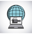 laptop computer technology icon vector image vector image