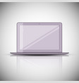 laptop icon vector image vector image