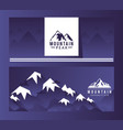 logo mountain peak expedition vector image vector image
