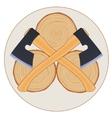 lumberjack logo with axes vector image