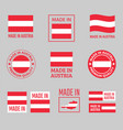 made in austria labels set republic austria vector image
