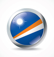 Marshall Islands flag button vector image vector image