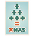 math christmas card vector image