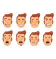 men facial gestures set vector image