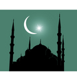 mosque silhouette vector image vector image