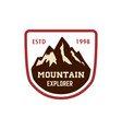 mountain emblem hiking tourism extreme expedition vector image vector image