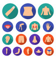 part of the body limb flat icons in set vector image vector image
