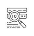 password check virus scan line icon vector image