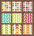 pattern with leaves decorative background vector image vector image