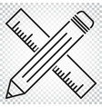 pencil with ruler icon ruler meter simple vector image