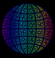 polygonal carcass spectrum mesh globe vector image