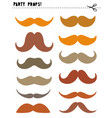printable photo booth props moustache vector image vector image