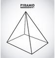 pyramid icon vector image vector image