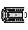 rugby arena icon simple style vector image