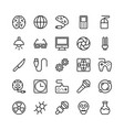 science and technology line icons 3 vector image vector image