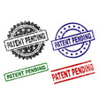 scratched textured patent pending seal stamps vector image
