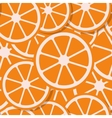 seamless background fresh orange in flat style vector image
