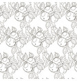 seamless black and white pattern apples