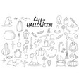 set of hallowen elements goast pumpkin vector image