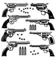 set of revolver design element for logo label vector image