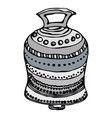 silver wedding bell ship bell church bell ink vector image vector image