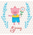 Spring pig vector image vector image