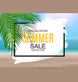 summer sale concept poster background vector image vector image