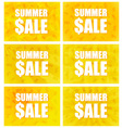 Summer Sale - Set Of Six Variants vector image vector image