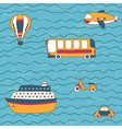 Summer travel design hand drawn transport vector image vector image