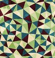 vintage triangle seamless pattern with grunge vector image vector image