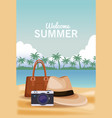 welcome summer concept vector image vector image