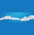 white liquid splash realistic drops and splashes vector image