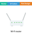 Wi-Fi router icon vector image vector image