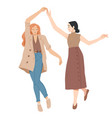 young women dancing summer leisure activity vector image vector image