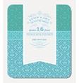 Retro Blue Elegant Invitation Design vector image