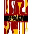 Restaurant menu cover design vector image