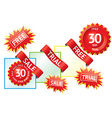 Set of sale labels and ribbons vector image