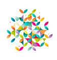 abstract colorful and creative geometric vector image vector image